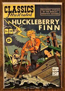 Classic Illustrated (Comics 1964 8th Edition/Print) #19: Huckleberry Finn FN/VF