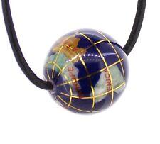 Anhänger Edelstein Globus aus Edelsteinen gebohrt Ø 20 mm, Edelstein Globus