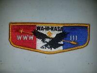 Boy Scout OA 111 Wa-Hi-Nasa Lodge Flap S8 Vigil