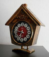 VINTAGE VITYAZ SOVIET USSR MECHANICAL ALARM CLOCK WORKING AND RINGING