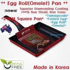 Kitchen Art Omelet Egg Roll Diamond Coated Frying pan Tamagoyaki Fried Egg 28CM