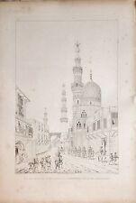 EGYPT.CAIRO.Mosquées d´Emir -Jacour...Grabado original,Pascal Coste,  1837-1839.
