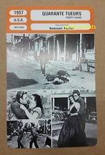 US Western Movie Forty Guns Barbara Stanwyck Dean Jagger French Film Trade Card
