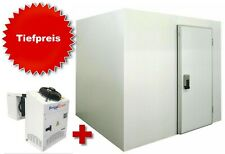 Kühlzelle Kühlhaus Kühlraum 207x207x205 cm MIT Kühlaggregat Huckepack Wand 80 mm