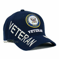 U.S. NAVY Hat NAVY VETERAN Military Official Licensed Baseball Cap- Navy Blue