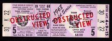 1968 WORLD SERIES GAME 5 Detroit Tigers FULL UNUSED TICKET Tiger Stadium RARE!