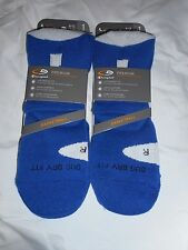 2 Pair Champion Correct Fit  Basketball High Ankle Socks Arch Support  Blue 6-12