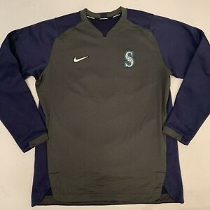NWOT Nike Dri Fit Seattle Mariners MLB Authentic Training Pullover Large New