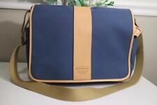 Coach blue canvas Leather Trim briefcase  Messenger 6437 (u900