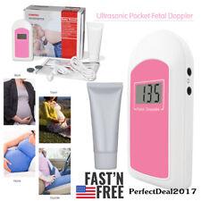 US Seller,Handheld Fetal Doppler Prenatal Heart Monitor LCD Screen Baby Monitor