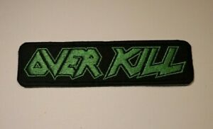 Overkill Patch Over kill Patch Iron/Sew on Embroidered Exodus Anthrax Kreator