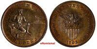 Philippines U.S. Administration Bronze 1903 1 Centavo 1st Year for Type KM# 163