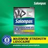 Salonpas LIDOCAINE 4% Pain Relieving Gel-Patch Maximum Strength 15 Patches