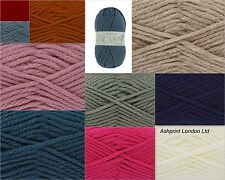 King Cole Big Value Super Chunky Acrylic Wool Yarn 100g - FREE POSTAGE