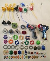 Vintage Beyblade Bundle RC Dragoon V RC Dranzer V Launcher Spinner Wolf Wolberg