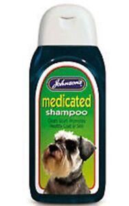 Johnsons MEDICATED SHAMPOO Dog Scurf Soothe Calm Irritations Health Fresh 200ML