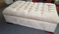 Large chesterfield Footstool/Coffee Table/Storage Ottoman