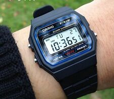 Casio F-91W-1YER Casual Resin Digital Watch - Black