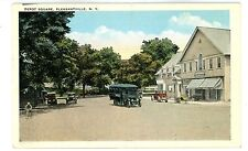 Pleasantville NY - EARLY BUS IN DEPOT SQUARE - Postcard