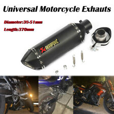 With DB Killer Universal Motorcycle Exhaust Muffler Pipe Stainless Steel Slip On