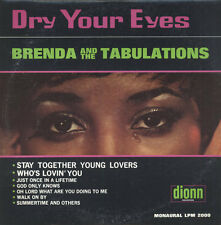 "BRENDA & TABULATIONS ~ ""DRY YOUR EYES""~""RARE U.S. PRESS DIONNE-1967"" ""SEALED LP"