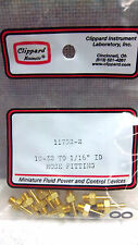 """BAG OF 10 CLIPPARD MINIMATIC 32 TO 1/16"""" ID HOSE FITTINGS 11752-2 NEW 117522"""