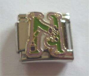 Italian Charms Letter Alphabet  Letters N for Nail