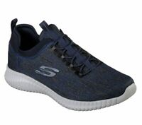 Navy Walking Sneaker Skechers Shoes Men Mesh Slip On Memory Foam 52642
