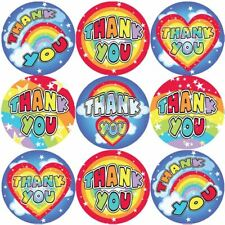 144 Thank You Rainbows 30 mm Reward Stickers for School Teachers, Parents
