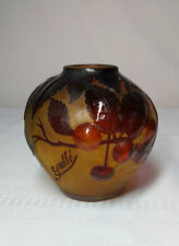 AUTHENTIC EMILE GALLE MOLD BLOWN CHERRY TREE VASE, GREAT DETAIL, QUITE RARE~~~