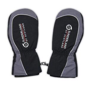 Sunderland Thermal Lined Showerproof Golf Mittens Golf Winter Mitts Black Grey