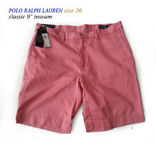 "POLO Ralph Lauren Men Size 36 classic cotton shorts 9"" inseam red color seat at"