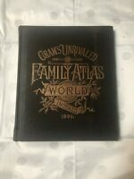 CRAM'S UNRIVALED FAMILY ATLAS OF THE WORLD, INDEXED 1886 by GEO F. CRAM