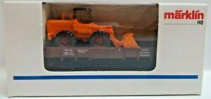 Märklin 4423 H0 Low-Sided Wiking Radlader Boxed