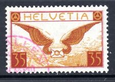 (012) Switzerland 1923-40 Air 35c Lake Brown & Brown Ochre SG320 VF Used Cat £65