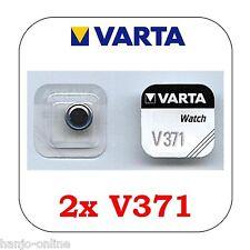 2 Stück VARTA V371 Knopfzelle Batterie - SR69 - SR920SW Uhrenbatterie SR920
