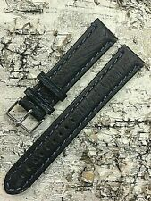20mm BLUE VINTAGE STRAP INTERCHANGEABLE GENUINE LEATHER WATCH BAND New Old Stock