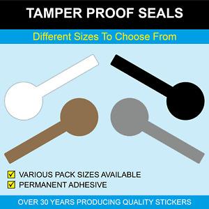 Lollipop Shaped Tamper Proof Seals