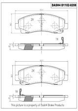 Disc Brake Pad Set-PREMIUM CERAMIC PADS Front Dash 4 Brake CFD1102
