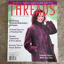 Taunton's THREADS Magazine for People Who Love to Sew March 2001 Number 93