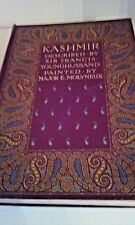 Kashmir  described by Sir Francis Youngblood  antique leather bound 1909