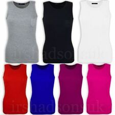 Girls' 100% Cotton Vest Crew Neck T-Shirts, Top & Shirts (2-16 Years)
