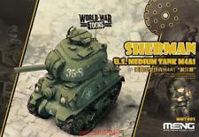 Meng Model WWT-002 World War Toons Sherman U.S. Medium Tank M4A1 Armour Plastic