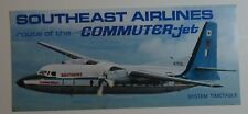 Southeast Airlines 1960's Timetable   - The Commuter Jet