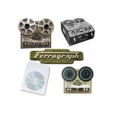 Ferrograph tape recorder manual reel to reel user operation service manuals cd
