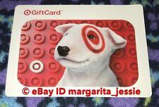 TARGET GIFT CARD 2016 BULLSEYE DOG W/RED  TARGET LOGO LEGO PATTERN NO VALUE NEW