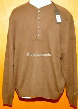 NEW Men's Under Armour Cashmere Silk Brown Sweater #1265252  Size 2XL