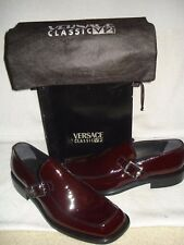 100% AUTHENTIC NEW MEN VERSACE PATENT RED LEATHER LOAFERS/DRIVERS US 9