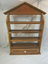 Vintage Lenox Spice Village Wooden Maple Display Rack Shelf Only 52267