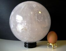 Giant 6.8kg 16.5cm Crystal Clear Quartz Ball Orb Sphere on Rosewood Stand